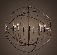 Aiwen Globe Candle Chandelier Wrought Iron Pendant Light Living Room Dining Room Ceiling Lamp (Bulbs not Included) Black 6 Lamp Holders Foyer Pendant Lighting, Foyer Chandelier, Rustic Lighting, Bedroom Lighting, Entryway Lighting, Unique Lighting, Ikea Lighting, Coastal Chandelier, Coastal Lighting