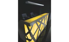 Created by architect Zbigniew Kostrzewa, the new reception desk ZIG-ZAG appears to be the ideal mix of style, reliability and simplicity. The front panels combine interlacing metal structures with Plexiglas and produce the feeling of extended space for the rooms, where the reception is installed #sohomod