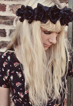 FLORENCE OVERSIZED FLORAL CROWN HEADBAND  ROCKNROSE