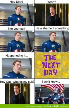 Captain Iron? Iron America? America Man? An entire world of cross over (that is cannon) and we get the Iron Patriot
