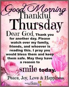 Pin by Bridgette Wright on Evening Blessings/Greetings ...  |Thursday Prayers From The Heart