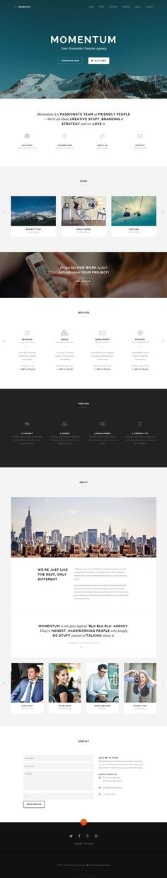 Momentum - Simple Creative One Page Template  #html5templates #psdtemplates