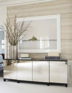 wall covering dining room travertine | Fromental
