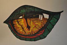 Drachenauge mit Farbe