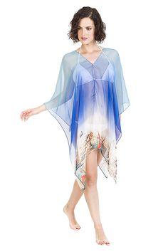 3506f18924 Cover Ups for Swimwear Women by Melifluos Summer Beach Wear Swimsuit Dress  Skirt (Bird Navy) at Amazon Women's Clothing store: