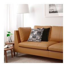 STOCKHOLM Sofa IKEA Highly Durable Full Grain Leather Which Is Soft And Has  A Natural