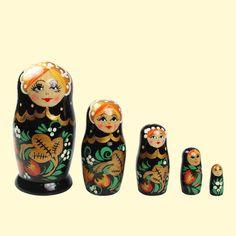 "SHOP-PARADISE.COM:  Matrjoschka ""Rossijanotschka"" (M5), 11 cm, Hochloma 17,85 €"