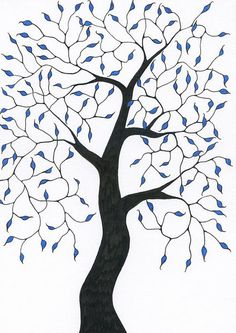 Pen and ink art by Chris Bishop. Ink Pen Art, Bishop Arts, Framed Prints, Canvas Prints, Blue Leaves, Tree Art, Art Journaling, Doodle Art, Fun Projects