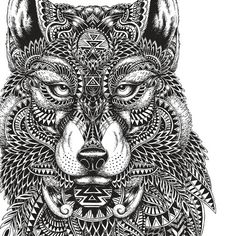 Wolf Coloring Page by ILoveColoring on Etsy