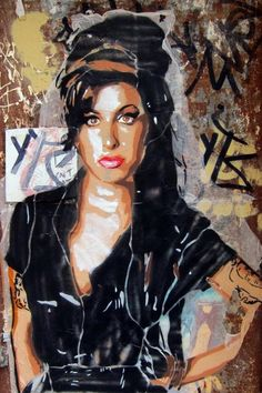 street art tribute to amy winehouse 3d Street Art, Urban Street Art, Amazing Street Art, Street Art Graffiti, Street Artists, Urban Art, Amazing Art, Graffiti Piece, Banksy