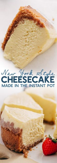 New York-Style Instant Pot Cheesecake Learn how to make a traditional cheesecake right in your pressure cooker! # The post New York-Style Instant Pot Cheesecake Learn how to make a traditional cheeseca appeared first on Recipes. Just Desserts, Delicious Desserts, Dessert Recipes, Yummy Food, Drink Recipes, Yummy Recipes, Keto Recipes, Healthy Recipes, Instant Pot Pressure Cooker