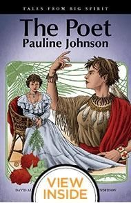 "GN 970.3092 JOH ROB  The Poet: Pauline JohnsonAlthough Kathy loves poetry, she is far too shy to recite it in front of her class. But the story of Pauline Johnson, renowned as the ""Mohawk Princess"" inspires Kathy to overcome her stage fright. Pauline, from the Grand River Reserve in Ontario, crisscrossed the country, reciting her poems to far-flung communities, making her among the most beloved literary figures of the Edwardian era."
