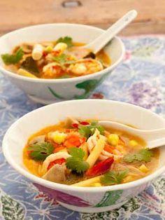 Recept en foto van een Thaise garnalensoep, één van mijn favoriete 'comfort food' recept.