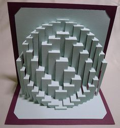 Obloid Whorl : kirigami pop-up paper sculpture
