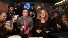Jimmy Fallon YAdele Cantando 'Hello' Con Instrumento De Juguete En Vivo #Video