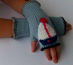 """#""""Schiff""""-#Handstulpen für Coole #Junge"""