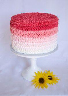 Ombre Buttercream Ruffle Cake - Tutorial - Cake Central