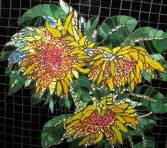 SUNFLOWERS by mosaickid, via Flickr