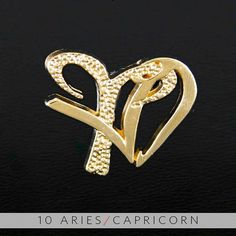 10 Aries and Capricorn Gold Unity Pendant by UnityDesignConcepts, $99.99