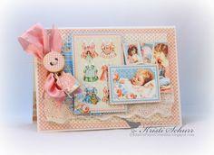 Kristi's Paper Creations: Baby Cards Using Graphic 45 Precious Memories