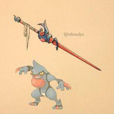 Pokeapon No. 454 - Toxicroak. #pokemon #toxicroak #rapier #pokeapon