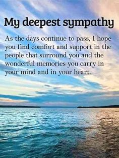 It can be hard to know what to do or say to someone who has suffered a loss and is grieving the death of a loved one. You can offer some words of encouragement with these uplifting quotes that you can use to help comfort someone who is grieving. Sympathy Verses, Sympathy Card Sayings, Sympathy Notes, Words Of Sympathy, Sympathy Quotes For Loss, Sympathy Messages For Cards, Greeting Cards, Thinking Of You Quotes Sympathy, Sympathy Prayers