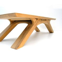 Coffee table - handmade in durable French oak in arc - The design of this contemporary coffee table arch leg in reclaimed oak was totally inspired by the - Oak Coffee Table, Oak Dining Table, Coffee Table Design, Woodworking Furniture, Woodworking Projects, Woodworking Plans, Woodworking Inspiration, Woodworking Skills, Woodworking Shop