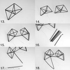Geometric Himmeli Heart Tutorial - Vintage Revivals