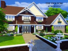 The Dolton is a family home built on a 40 x 30 lot in Willow Creek on the Parkshore Lot. Found in TSR Category 'Sims 4 Residential Lots'