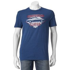 "Men's ""American Classic"" Chevrolet Camaro Tee, Med Blue"