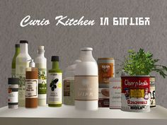 The Sims 2   SelenaQ13, plumbbobtoggle: Curio Kitchen Clutter in Simlish (catalog only) #thesims2