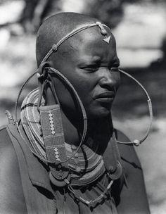 Africa | Portrait of a Masai woman. 1950 | © Firmin
