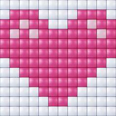 #pixelhobby #pixelen #pixel.gift #kids #toy #hobby #creatief #hart Fuse Beads, Beads And Wire, Hama Beads, Pixel Design, Graph Design, Pixel Crochet, Crochet Cross, Peyote Patterns, Beading Patterns