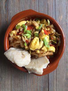 Ackee and Salt fish Jamaican Recipes, Dumplings, My Recipes, Cobb Salad, Cravings, Salt, Fish, Jamaican Food Recipes, Salts