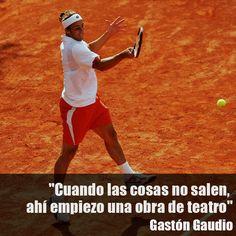 Gastón Gaudio #frases #tenis #tennis @JugamosTenis Warriors, Running, Quotes, Hs Sports, Frases, Tennis, Racing, Qoutes, Keep Running