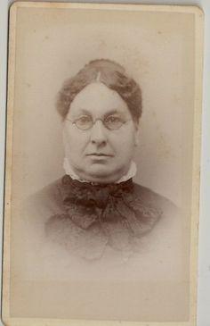 CDV Woman Black Lace Scarf Glasses Massachusetts   eBay