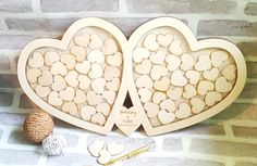 Heart Drop Box Guest Book Large Double Heart by ForgetMeKnotWed