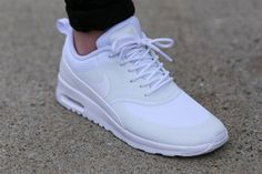 NIKE Women's Shoes - Nike Air Max Thea White/White post image - Find deals and best selling products for Nike Shoes for Women Air Max Thea, Nike Free Shoes, Nike Shoes Outlet, Air Max Sneakers, Sneakers Women, Basket Style, Fashion Models, Mens Fashion, Mode Style