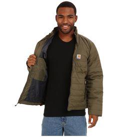 Carhartt Men Gilliam Jacket (101443 316) Rain Defender Nylon Quilted Moss XL,2XL…