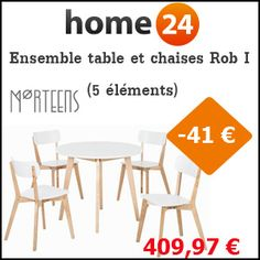 #missbonreduction; Remise de 41€ sur l'Ensemble table et chaises Rob I (5 éléments) chez Home24. http://www.miss-bon-reduction.fr//details-bon-reduction-Home24-i854755-c1826084.html