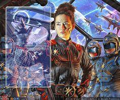ULTRANOVA : Photo Cyberpunk, Sci Fi Fantasy, Space Fantasy, Fantasy Artwork, Physical Comedy, Classic Sci Fi, Sci Fi Characters, Character Concept, Character Art