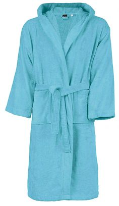 Peignoir de bain - coton velours - homme femme Bleu Turquoise, Fashion, Dress, Velvet, Man Women, Cotton, Home, Moda, Fashion Styles