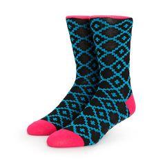 Vans Kaley Blue Geo Print Crew Socks