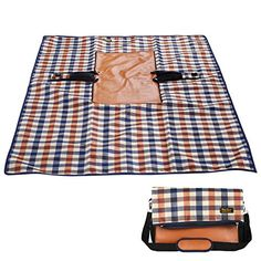Forfar Picnic Blanket Lightweight Waterproof Foldable Outdoor Blanket Extra Large Multi-uses Bag Perfect for Picnic, Beach, Traveling, Camping, Hiking * See this great product.