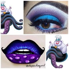 Ursula (x2) (Make-Up by LeslierHS2006 & DepecheGurl @Instagram) #TheLittleMermaid
