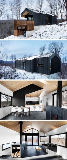 Bolton Residence von Naturehumaine in Quebec, Kanada - Architektur Space Architecture, Residential Architecture, Amazing Architecture, Style At Home, Build Your Own House, Cottage Exterior, Glass House, House In The Woods, Modern House Design
