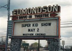 We were so sorry to see our drive-in theater demolished.  Edmondson Drive-In, Catonsville, MD