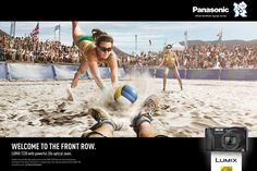Panasonic: Front row, Volleyball | Ads of the World™