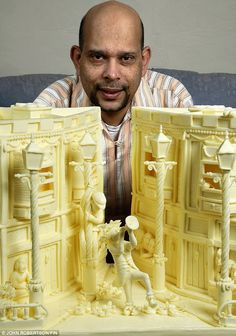 Intricate details in a butter sculpture by Vipula Athukorale