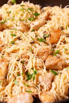 Chicken Piccata Pasta! A must try absolutely amazing and very easy to make.